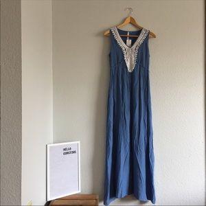 Blue Maxi Dress NWT